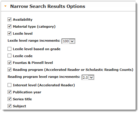 Narrow Search Results